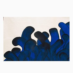 Tappeto Anémone blu di François Dumas