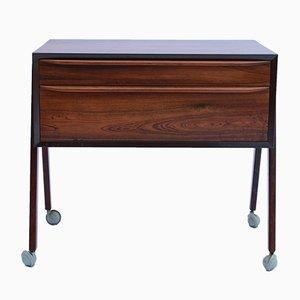 Mesa de costura danesa pequeña de palisandro, años 60