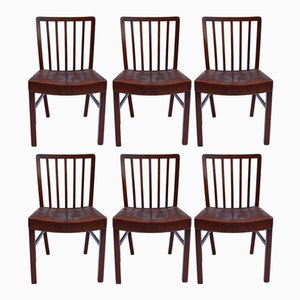Dining Chairs in Light Mahogany for Fritz Hansen, 1940s, Set of 6