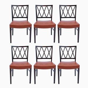 Chaises de Salle à Manger en Acajou Foncé par Ole Wanscher, 1960s, Set de 6