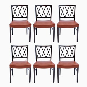 Dining Chairs in Dark Mahogany by Ole Wanscher, 1960s, Set of 6
