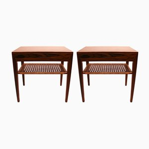 Rosewood Nightstands by Severin Hansen for Haslev Møbelsnedkeri, 1960s