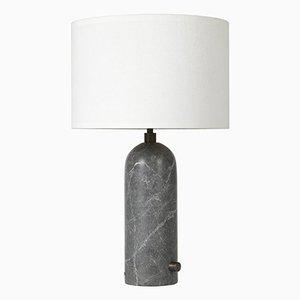 Lampada da tavolo Gravity in marmo grigio di Louis Weisdorf