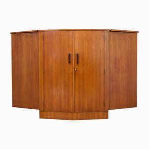 Mid-Century Teak Drinks Cabinet with Dry Bar