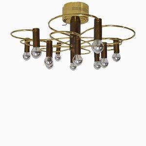 Lámpara de araña de Gaetano Sciolari para Boulanger, años 60