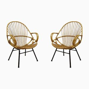 Bamboo Hoop Chairs by Dirk Van Sliedregt for Rohe Noordwolde, 1960s, Set of 2