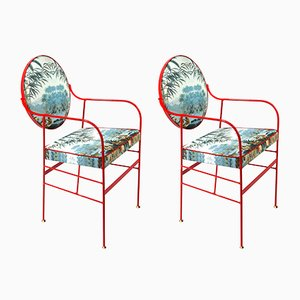 Luigina Red Escape Chair by Paolo Calcagni for Sotow, Set of 2