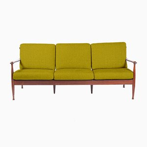 Customizable Mid-Century Rosewood 3-Seater Sofa