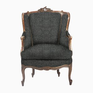Customizable Rococo Lounge Chair with Original Gilding, 1740s