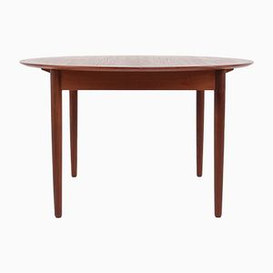 Danish Round Extendable Table, 1960s