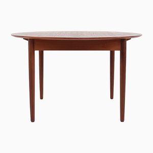 Runder ausziehbarer dänischer Tisch, 1960er
