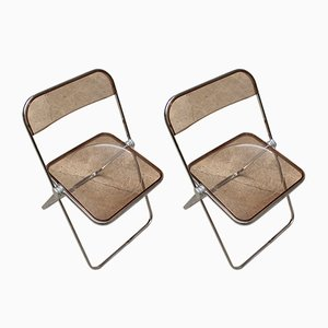Plia Folding Chair by Giancarlo Piretti for Castelli, 1960s, Set of 2