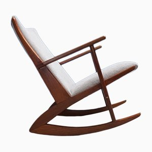 Vintage Model 97 Teak Rocking Chair by Søren Georg Jensen for Tønder Møbelvaerk