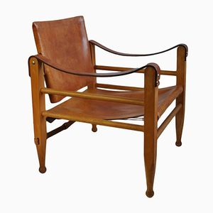 Safari Chairs by Børge Mogensen for Aage Bruun and Son, 1950s, Set of 2