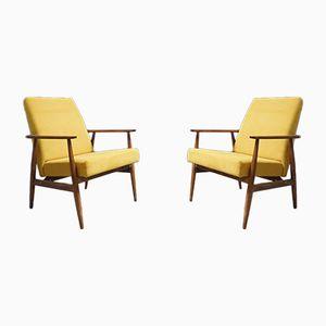 Gelber Sessel von H. Lis, 1970er, 2er Set