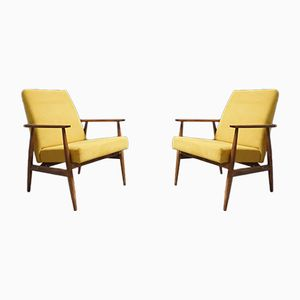 Yellow Armchairs by H. Lis, 1970s, Set of 2