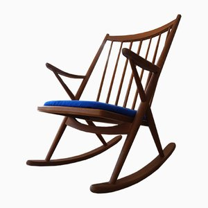 Teak Rocking Chair by Frank Reenskaug for Bramin, 1960s