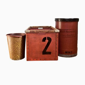 Boîtes GDR Industrielles, 1950s, Set de 3
