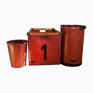 Cajas de la RDA industriales, años 50. Juego de 3