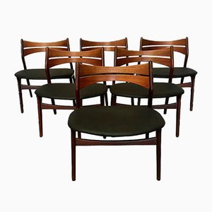 Vintage Model 310 Dining Chairs in Teak by Erik Buch for Chr. Christiansen, Set of 6