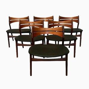 Vintage Modell 310 Esszimmerstühle aus Teak von Erik Buch für Chr. Christiansen, 6er Set