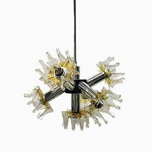 Lámpara de araña Sputnik vintage de Mazzega, años 70
