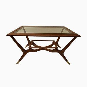 Mesa de centro vintage de teca