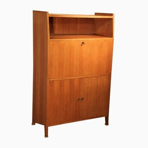 Blonde Oak Secretaire, 1950s