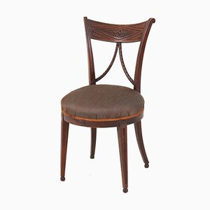 Antique Dutch Louis XVI Chairs in Elm, Set of 8