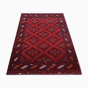 Vintage Afghan Rubine Carpet