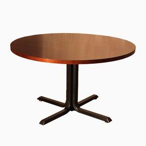 Grande Table Ronde Vintage en Acajou