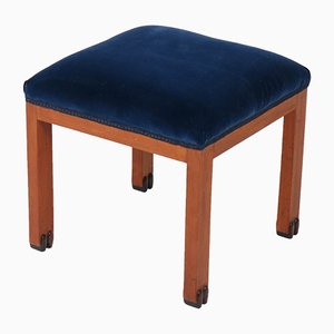 Art Deco Amsterdam School Stool in Mahogany, 1920s