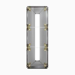 Hyperqube Stehlampe aus Glas mit 3 Modulen mit dimmbarer LED von Felix Monza