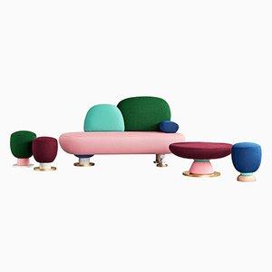 Sofa, Tisch und Hocker von Masquespacio