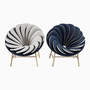 Quetzal Armchairs by Marc Venot, Set of 2