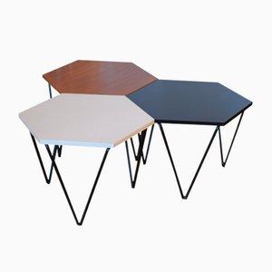 Tables d'Appoint par Gio Ponti pour ISA, années 50, Set de 3