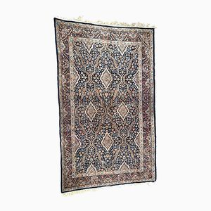 Vintage Blue Middle Eastern Hand-Knotted Rug
