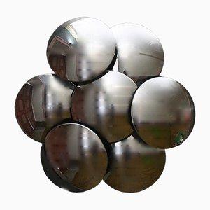 Applique da parete con sette dischi di Reggiani, anni '70