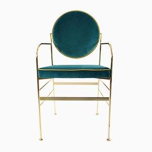 Chaises Luigina Bleu Paon par Paolo Calcagni pour Sotow, Set de 2