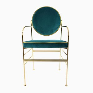 Luigina Chairs in Peacock Blue by Paolo Calcagni for Sotow, Set of 2