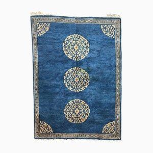 Handgeknüpfter tibetischer Vintage Teppich