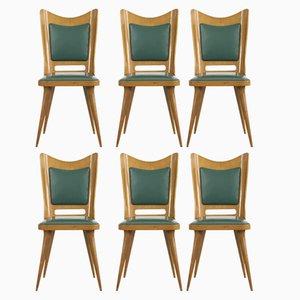 Mid-Century Esszimmerstühle, 1950er, 6er Set