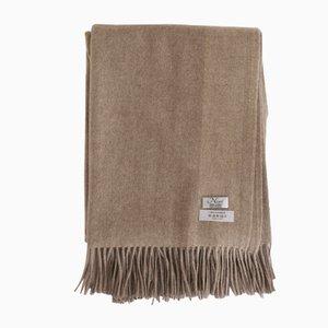 Chal Biarritz de cashmere en marrón oscuro de Nzuri Textiles
