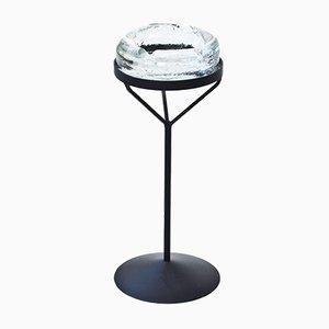 Posacenere in cristallo su base in ferro di Erik Hoglund per Boda, anni '50