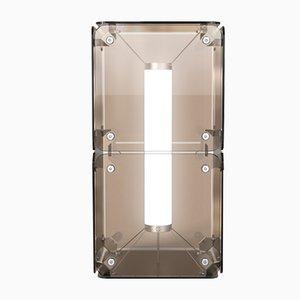 Lámpara de pie Hyperqube de dos módulos de vidrio con LED regulable de Felix Monza
