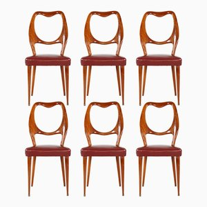 Vintage Dining Chairs by Vittorio Dassi, Set of 6