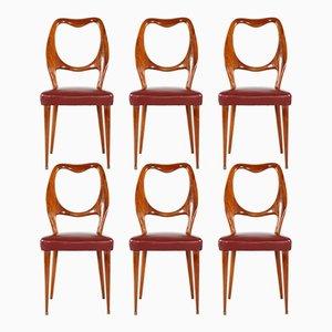 Vintage Esszimmerstühle von Vittorio Dassi, 6er Set