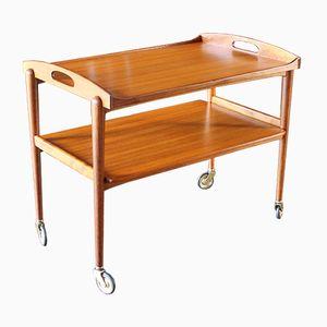 Mid-Century Teak Serving Cart
