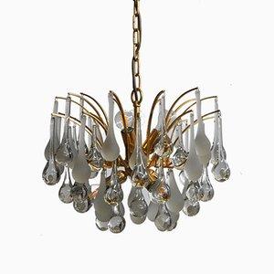 Lámpara de araña con colgantes de cristal de Murano de Paolo Venini para Venini, años 60
