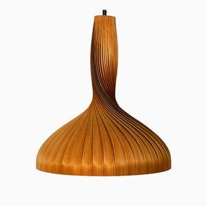 Große Hängelampe aus Schichtholz von Hans Agne Jakobsson für Markaryd, 1960er